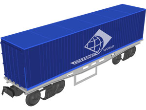 Контейнер железнодорожный 40 фут Ж/д контейнер 40